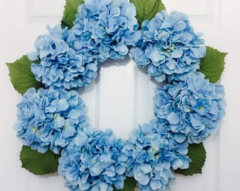 Spring Wreath, Easter Wreath,Summer Wreath, Hydrangea Wreath, Door Wreath, Decorative Wreath, Flower Wreath, Grapevine Wreath