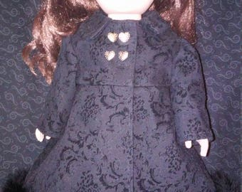 "18"" doll clothes. Doll Coat. Doll Jacket. Denim Jacket."