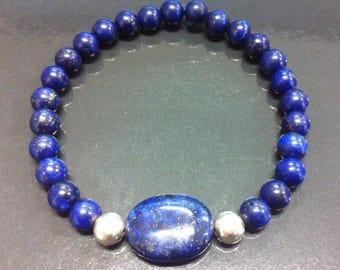 Lapis Lazuli and 925 silver bracelet