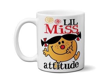 Lil Miss Attitude Cute Coffee Tea Mug Gifts For Kids