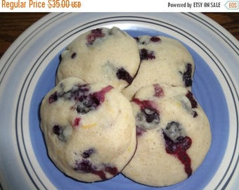 ON SALE: Soft & Fluffy Homemade Blueberry Lemon Cookies (2 Dozen)