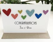 Gay Wedding Card, Gay Wedding Gift, Gay Marriage Card Gift, Gay Engagement Card Congratulations, Rainbow Gay Pride Love is Love LGBT