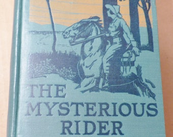 The Mysterious Rider Zane Grey novel Vintage book Antique book Collectible book 1921 book American Western Gift for readers Gift for writers