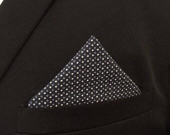 Pouch suit Navy blue fabric - man