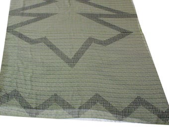 Vintage Georgette Indian Sari Used Fabric Abstract Printed Dress Recycled Saree Home Decor Drape Throw Sewing Wrap Free Shipping VLUS-100