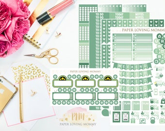 June Monthly Kit Stickers | Planner Stickers | Planner Stickers designed for use with the Erin Condren Life Planner