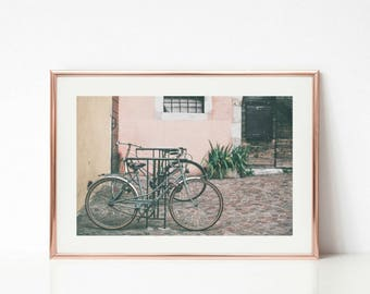 French Photography Decor Art, Paris Wall Art, Bike Gallery Wall Prints, Paris Bikes, Travel Art, Paris Decor