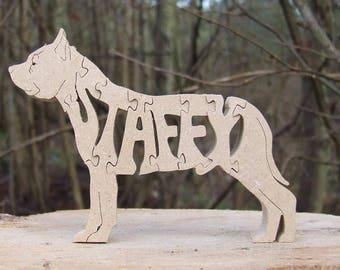 Staffordshire bull terrier dog jigsaw