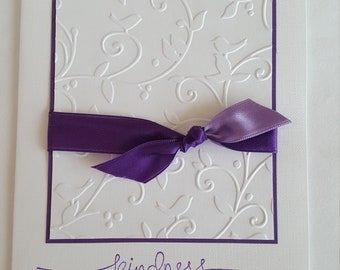 Kindness - Handmade - Greeting Card - Thank You - Blank Inside - With Envelope - Free Shipping