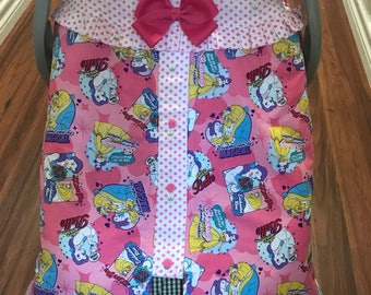 Beauty and the beast infant car seat canopy