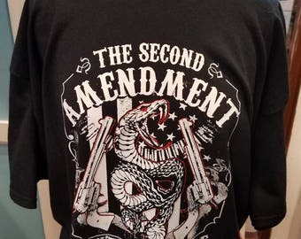 Second ammendment shirt - gift for gun lover - gift for dad - gift for him