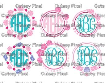 Sea Shell designs SVG Cut Files for Vinyl Cutters, sea shells svg, shells svg, sea svg, Cricut and Die Cut Machines, Silhouettes,