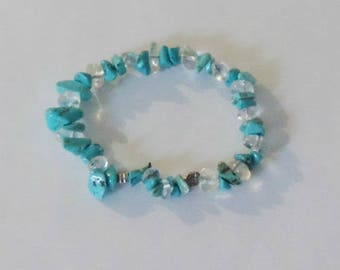Turquoise bracelet and rock crystal