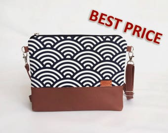Womens gift Trendy Bag Gift ideas Handbags Bags and Purses Crossbody purse Stylish Fabric purse Messenger bag Leather bag