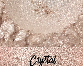 Crystal, Light Pink Loose Pigment 10 gram jar, Mineral Eye shadow Pigment