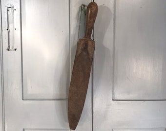 Antique rustic wooden treen strickle whetting tool levelling tool