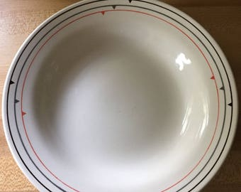 Mid Century Mod Oxford Luncheon plates and bowl.