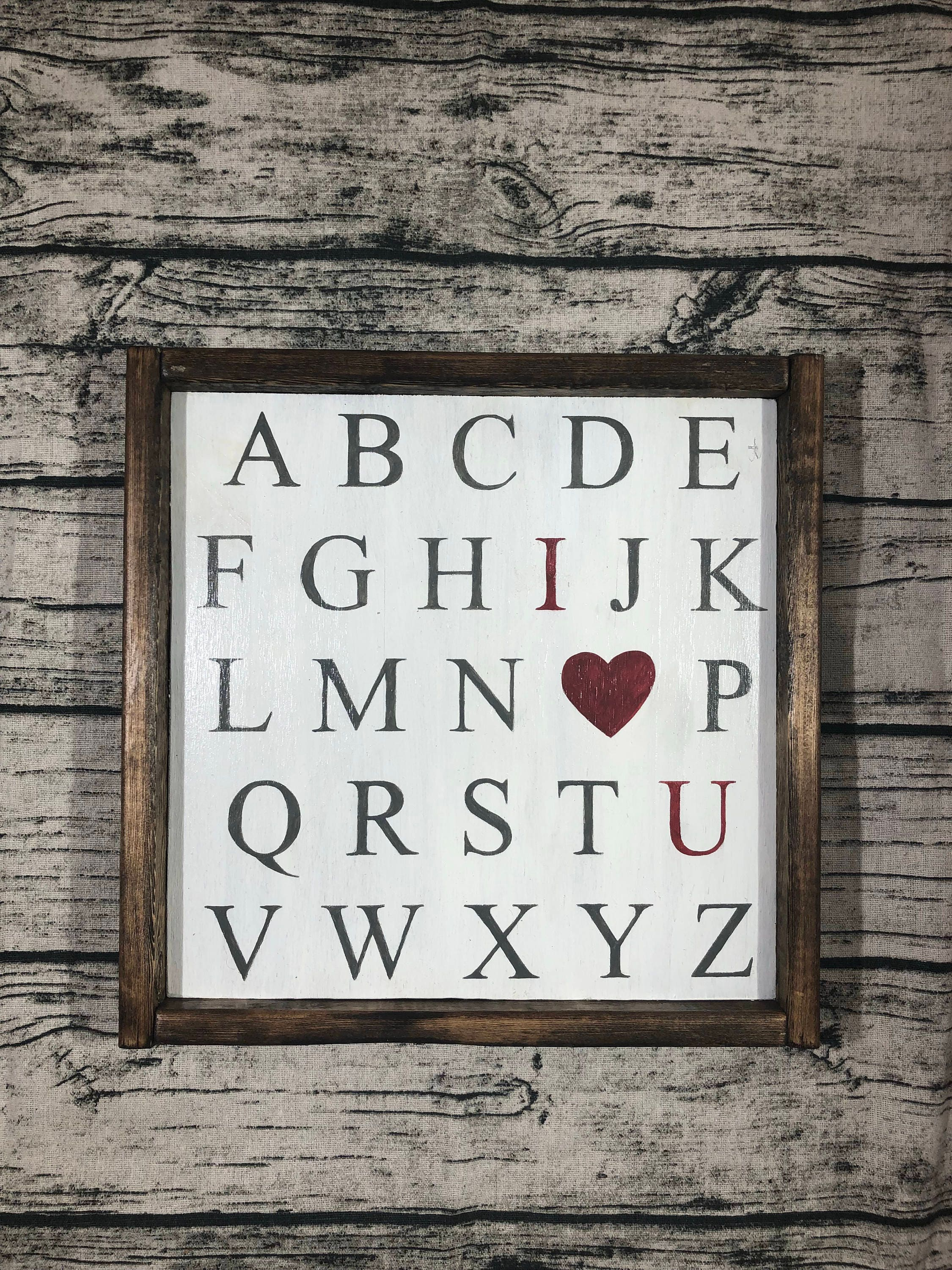 Abc I Love You Sign Kids Room Home Decor Rustic
