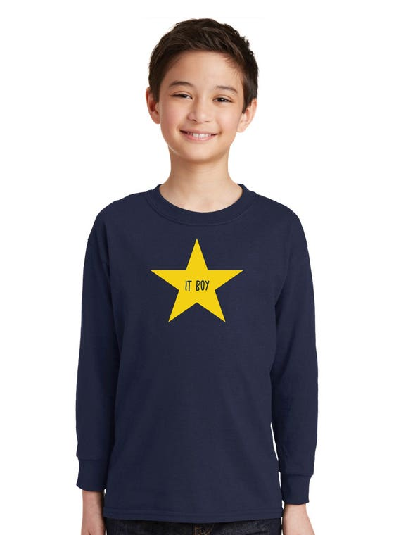 Round neck boy t-shirt IT BOY in a STAR