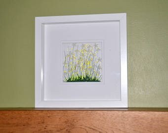 Handmade Fused Glass Art - Daisy Picture