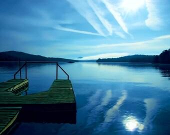 Sunrise Photo, Sunup Picture, Lake Reflection, Adirondack Dawn, Adirondack Lake, Adirondack Print, Adirondack Sunrise, Fine Art Photography
