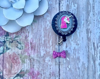 Unicorn Beauty -Nurse Retractable ID Badge Reel/ RN Badge Holder/Doctor Badge Reel/Nurse Badge Holder/Student Nurse badge reel/ nursing gif
