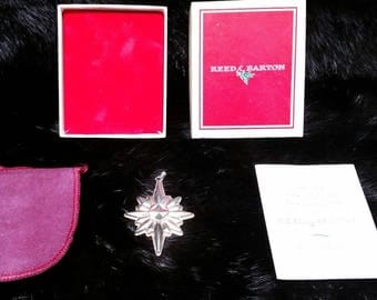 Christmas Star Ornament Pendant Reed And Barton Sterling Silver 1978 Vintage