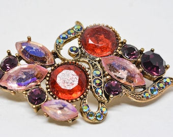 Gorgeous multi color brooch