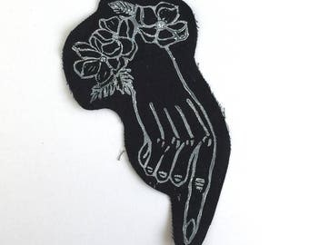 Victorian Mourning Hand Printed Back Patch
