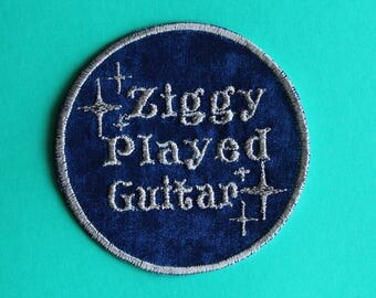 David Bowie Ziggy Stardust Iron On Patch