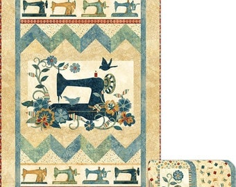Lets Sew Happy Quilt Pattern - uses Northcott A Stitch in Time fabric collection