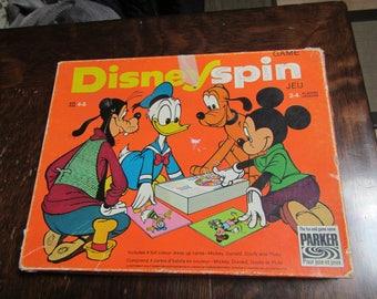 Vintage Disney  Spin Game...Walt Disney Board game