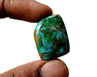 Chrysocolla 28.5 Cts AAA Quality Natural Gemstone Attractive Designer Free Form Shape Cabochon 24x19x6 MM R14134