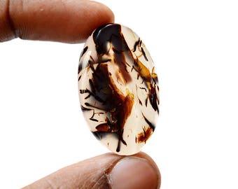 Montana Agate 36 Ct Oval Shape beautiful Natural Gemstone Cabochon 35x22x5.7 MM R14531