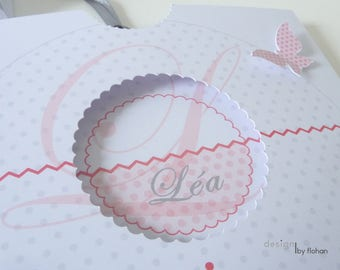 Share personalized pink and gray