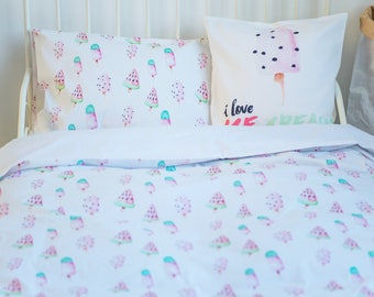 Girl Twin Bedding, Children Bedding, Girl Toddler Bedding, Twin Bedding Set, Toddler Duvet, Girl Duvet Cover, Twin Duvet, Twin Bedding