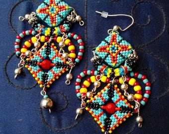 Dangle and drop earrings beaded bead