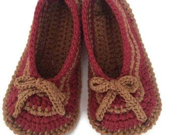Crochet Slippers, Crochet Slipper Shoes, Crochet Boties, Gift For Holiday, Gift For Woman
