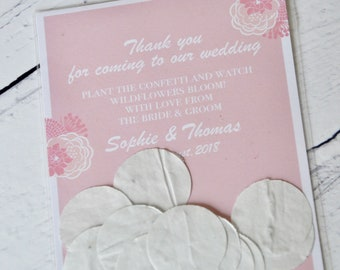 Wedding Favours With Plantable Seed Paper Confetti.  Eco Friendly, Wedding Seed Favours And Wedding Favour Bags