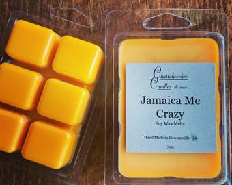 Handmade Soy Wax Melts- Jamaica Me Crazy Scented | Soy Melts | Soy Wax Tarts | Soy Wax Melts | Wax Warmer | Soy Wax Warmer
