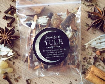 Sacred Scents: Yule, Winter Solstice Smudge Loose Incense
