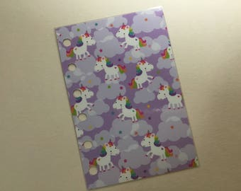 NEW!!! Dashboard for A5 Large  Size Planner Unicorns