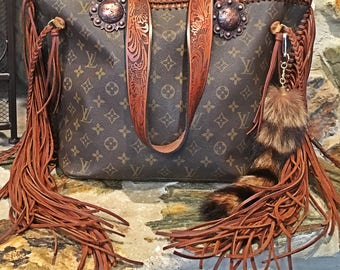 Authentic Louis Vuitton Fringed Neverfull