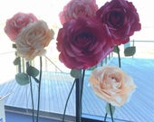 Giant paper flower - FREE standing ROSE/paper flower wall/Wedding flower/birthday party /home styling/wedding centerpiece/window display