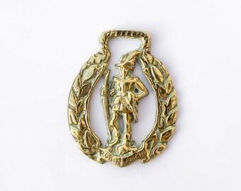 Robin Hood - Equestrian Horse Brass - Collectible Vintage Brass