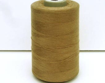 Cone of sewing thread Brown poly-cotton