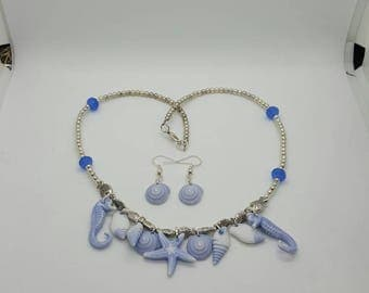 Nautical necklace and earrings set  (JS021)