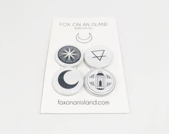 """Random Four Pack of 1"""" Buttons"""