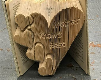 Folded Book Art Custom Folded Pages Hardback Book Mother Knows Best