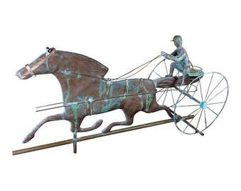 Vintage Horse and Jockey Weathervane